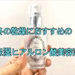 冬の乾燥におすすめの高保湿ヒアルロン酸美容液