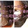 【名古屋市昭和区】ティントバーのベリーベリーピンクとタイガーリリーで染めるおしゃれ可愛いインナーカラー